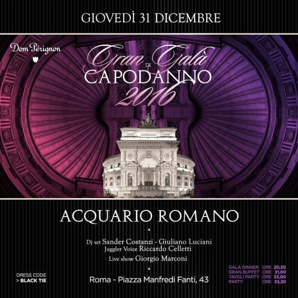 Capodanno Acquario Romano 2016